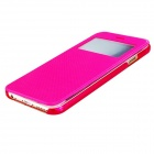 "Protective Flip-Open PU Cover + PC Back Case w/ Display Window for 4.7"" IPHONE 6 - Red"