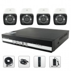 SANNCE NVR6004 + IPC5F14P-Z5 4-CH POE NVR & 960P HD 1.3MP IP Cameras Security System Set