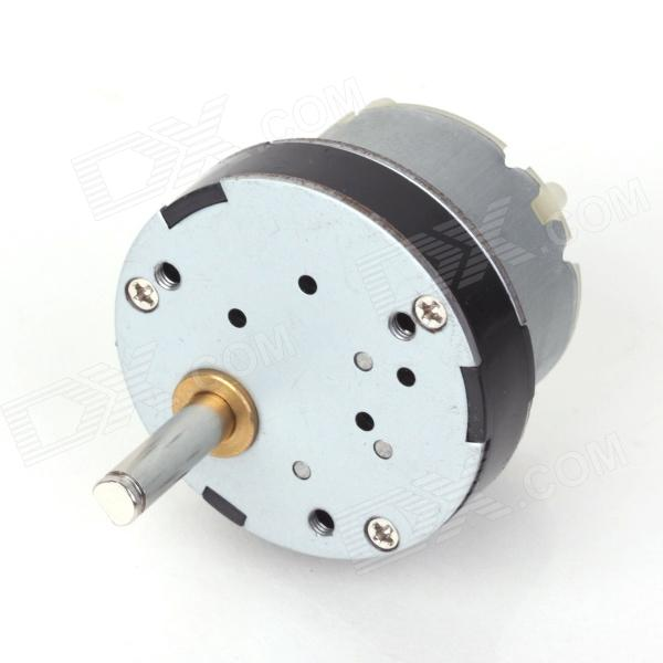 ZnDiy-BRY 12V DC 50RPM Torque Gear Box Motor zndiy bry dc 12v 3 5rpm 37mm high torque gear box electric motor silver