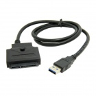 "CY U3-027-BK USB 3.0 to SATA 22 Pin Data Power Cable for 2.5"" / 3.5"" HDD - Black"