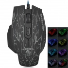 USB 2.0 Wired 1600dpi LED Gaming Mouse w/ Colorful Backlight - Black