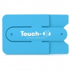 Universal Touch-U Portable Silicone Stand w/ 3M Glue for IPHONE / Samsung + More - Blue