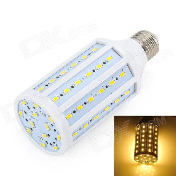 Marsing L30 E27 15W 1300lm 3500K 72-SMD 5730 LED Warm White Light Corn Lamp - White (AC 220~240V) lexing lx qp 20 e14 6w 470lm 3500k 15 5730 smd led warm white light dimmable lamp ac 220 240v