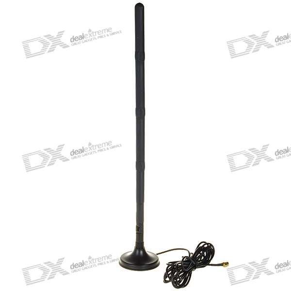 2.4GHz 15dBi SMA Omni Antenna with Stand for WiFi/Wireless Network (2400~2500MHz)