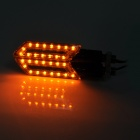 MD03 Universal Blade Shaped 15W 60lm 15-LED Yellow Light Motorcycle Steering Lamps - (Pair / 12V)