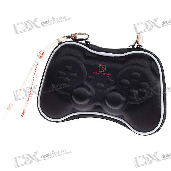 Hard Protective Carrying Case with Strap for PS3 Wireless Controller (Black) project design protective hard carrying pouch for wii remote controller silver
