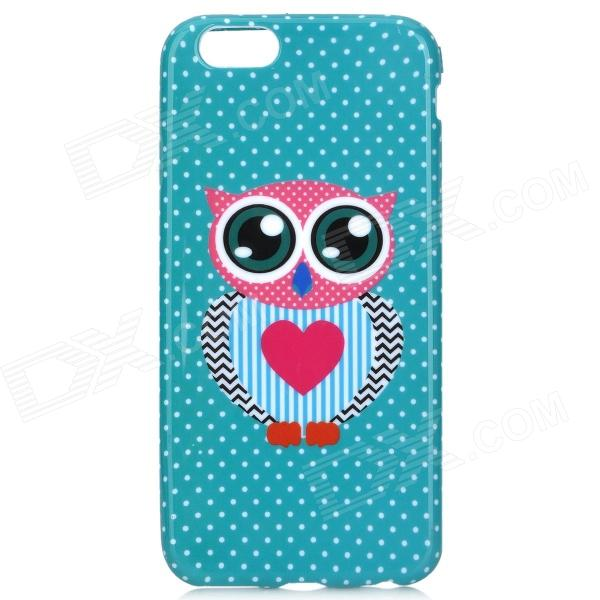 Cute Owl Pattern Protective TPU Back Case for IPHONE 6 4.7'' - Green + Deep Pink + Multicolored cute owl pattern stylish tpu back case for iphone 5 multicolored