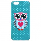 Cute Owl Pattern Protective TPU Back Case for IPHONE 6 4.7'' - Green + Deep Pink + Multicolored