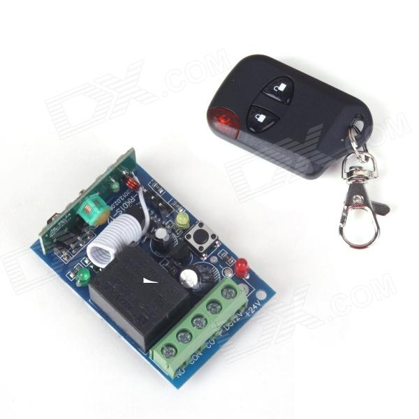 ZnDiy-BRY RF DC12V 1-CH Learning Code Remote Control Switch w/ Controller zndiy bry rf dc12v 1 ch learning code remote control switch w controller black