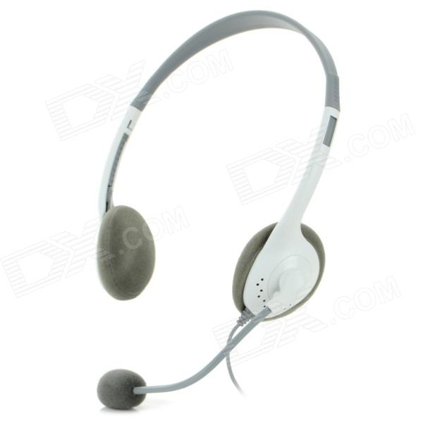 2.5mm Plug Headband Headphone for XBOX 360 / XBOX 360 Slim - Grey + White