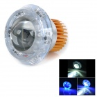 Universal 30W 180lm Angel Eye LED Blue Light Motorcycle Headlamp - Golden + Silver (12~80V)