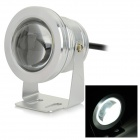 JRLED JRLED-10W-W Waterproof 10W 600lm 6500K 1-LED White Light Spotlight - Silver (AC 85~265V)