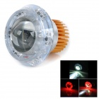 U-3 Universal 30W 180lm Angel Eye LED Red Light Motorcycle Headlamp - Golden + Silver (12~80V)