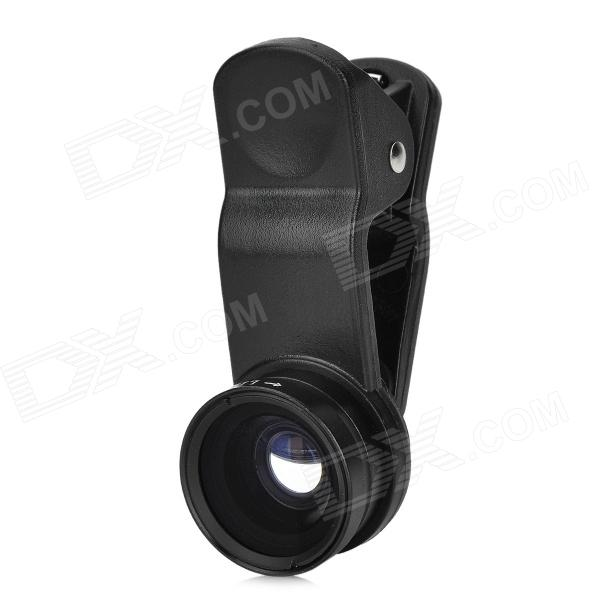LIEQI LQ-65X 0.65X Wide Angle + Macro Lens for IPHONE / IPAD / Samsung / Sony - Black