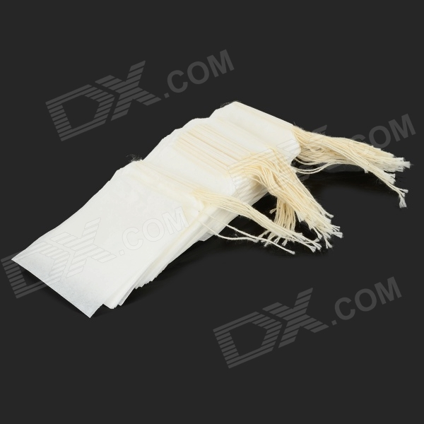 Disposable Drawstring Seal Filter Empty Paper Tea Bags - White (100 PCS) pulp and paper industry and environmental disaster