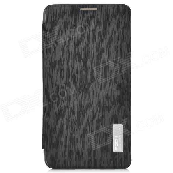 ROCK Suojaava PU Leather Case for Samsung Galaxy Note 3 N9000 - Musta