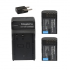 Kingma DMW-BLF19E 1860mAh Battery w/ US / EU Plug Charger for DMC-GH4 / GH3, BGGH3 - Black