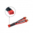 Universal 38# T-Plug Female to T-Plug Male Parallel Connector - Red + Black + Brass