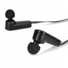 EW-036 mini sports bluetooth V3.0 in-ear hodetelefoner headset w / ørebøyler - svart
