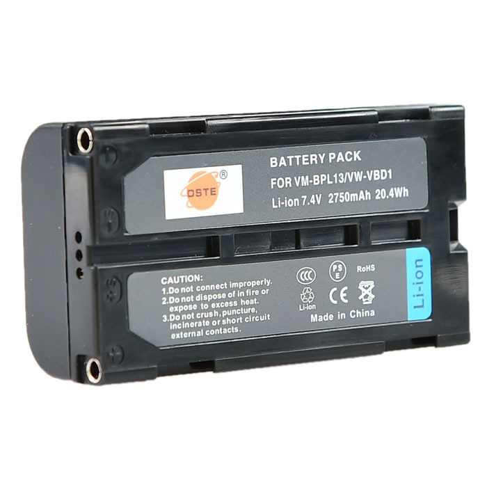 где купить DSTE VW-VBD1 7.4V 2750mAh Camera Battery for Panasonic EZ30U DS1EN DL1 - Black + Grey дешево