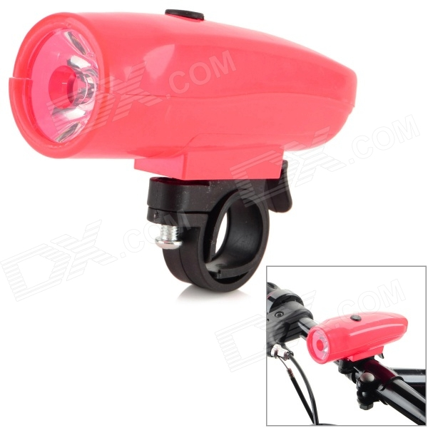 M9-2 Seat Post Mounted 3-Mode 50lm Cool White LED Plastic Bike Bicycle Light Lamp - Red (AAA x 3)