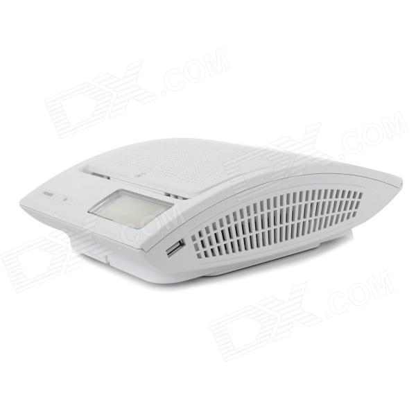 AP058 2.5 Screen Car Cigarette Lighter Powered Air Purifier - White