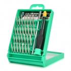 Pro'skit SD-9802 31-in-1 Repairing Precise Screwdriver Set for Mobile Phones + More - Green + Silver