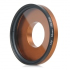 52mm UV Lens + Adapter Ring + Lens Cover Set for GoPro HD Hero 3 / 3+ - Black + Golden Orange