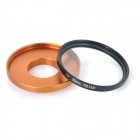 52 milímetros Lens UV + Anel Adaptador + Lens Cover Set para GoPro HD Hero 3/3 + - Black + Golden Orange