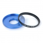 52mm UV Lens + Adapter Ring + Lens Cover Set for GoPro Hero 3 / 3+ - Black + Blue