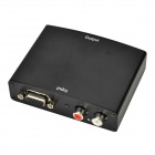 VGA Female to HDMI Female 1080P HD Video Converter w/ L/R - Black