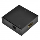VGA Female to HDMI Female 1080P HD Video Converter w/ Mini USB / L/R - Black