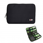 BUBM Portable Digital Accessories Nylon Storage Organizer Bag - Black (10L)