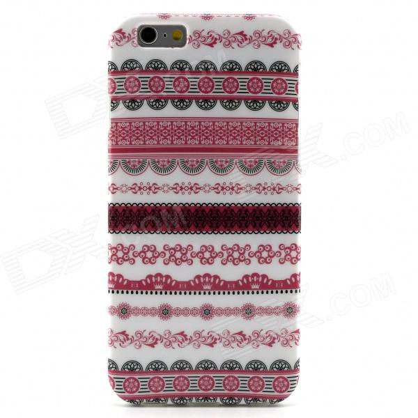 Tribal Lines Pattern Protective TPU Back Case for 4.7 IPHONE 6 - Pink + White cute popcorn pattern tpu back case for htc one mini m4 601e blue pink