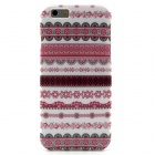 """Tribal Lines Pattern Protective TPU Back Case for 4.7"""" IPHONE 6 - Pink + White"""