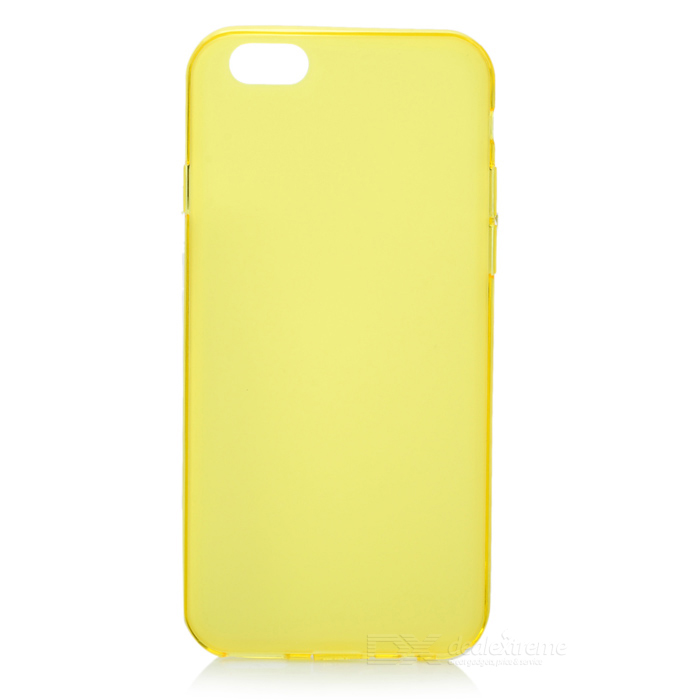 Stylish Matte Surface Protective TPU Case for 4.7 inch Screen IPHONE 6 - Yellow nillkin protective matte plastic back case w screen protector for iphone 6 4 7 golden