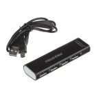 Stilfull USB 2.0 4-Port HUB - svart