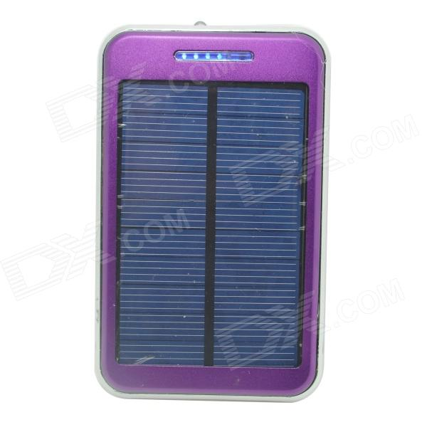 ODEM S4-8 Solar Powered 48000mAh External Li-ion Polymer Battery Charger Power Bank - Purple 30a 3s polymer lithium battery cell charger protection board pcb 18650 li ion lithium battery charging module 12 8 16v