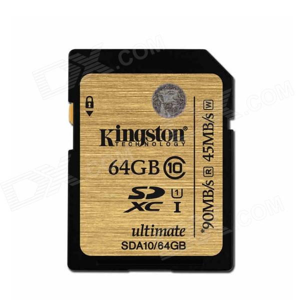 Kingston Digital Ultimate Flash SDXC Memory Card  - Golden (64GB / Class 10 UHS-I)
