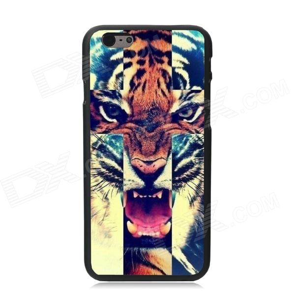 Elonbo Fierce Tiger Pattern Plastic Hard Back Cover for IPHONE 6 4.7 - Brown + Blue elonbo beautiful stripe plastic hard back cover for iphone 6 4 7 inch