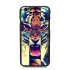 "Elonbo Fierce Tiger Pattern Plastic Hard Back Cover for IPHONE 6 4.7"" - Brown + Blue"