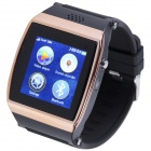 "AOLUGUYA S11 1.55"" Touch Screen Smart Watch Phone w/ Anti-Lost Bluetooth Pedometer - Brass + Black"