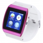 "AOLUGUYA S11 1.55"" Touch Screen Smart Watch Phone w/ Anti-Lost Bluetooth Pedometer - White + Purple"