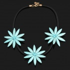 SAPREAL JX2010 Women's Blue Star Artificial Gemstone Ornament Necklace - Blue