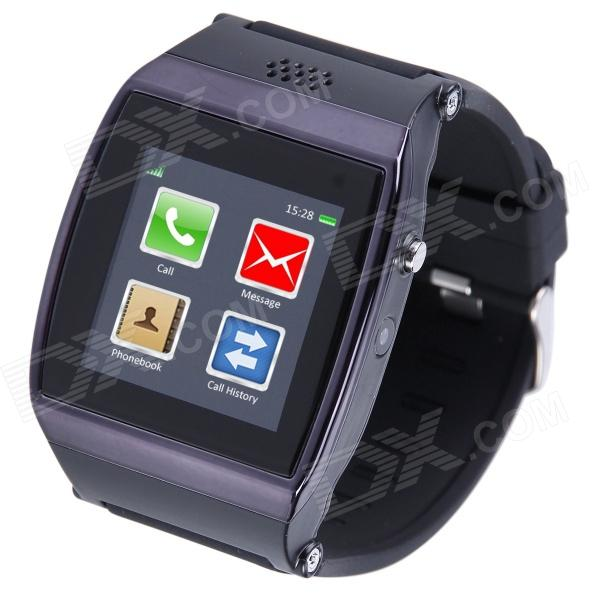 AOLUGUYA S11 1.55 Touch Screen Smart Watch Phone w/ Anti-Lost Bluetooth Pedometer - Black oled bluetooth v3 0 smart bracelet watch w anti lost pedometer silver