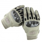 Men's Fashionable Outdoor Cycling / Riding Motorcycle PU Gloves - Sand (M / Pair)