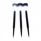 1-LED Solar Powered Self-Recharged Garden Lamp- Multi-Color (3PCS)