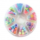 DIY Rainbow Plastic Bracelet Beads Accessories - Multicolored