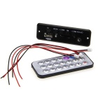 MP3 Decoder Module Board w/ USB / Mini USB / SD / FM / Remote Control - Black (5V)