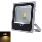 IP66 50W 4500LM 3000K Warm White Light LED Flood Light - Grey + Black (90~240V)
